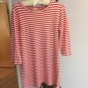 J crew tunic dress striped women's